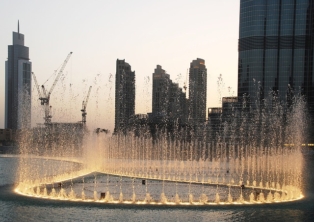 Fontány v Dubaji - atrakce a show